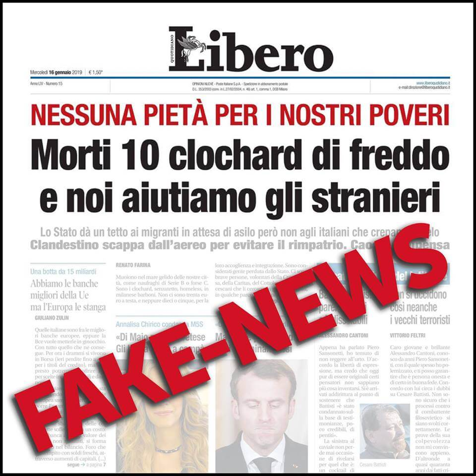 Fake news Libero